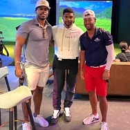 Usher Enjoys Five Iron Golf in Las Vegas on Golf Sunday