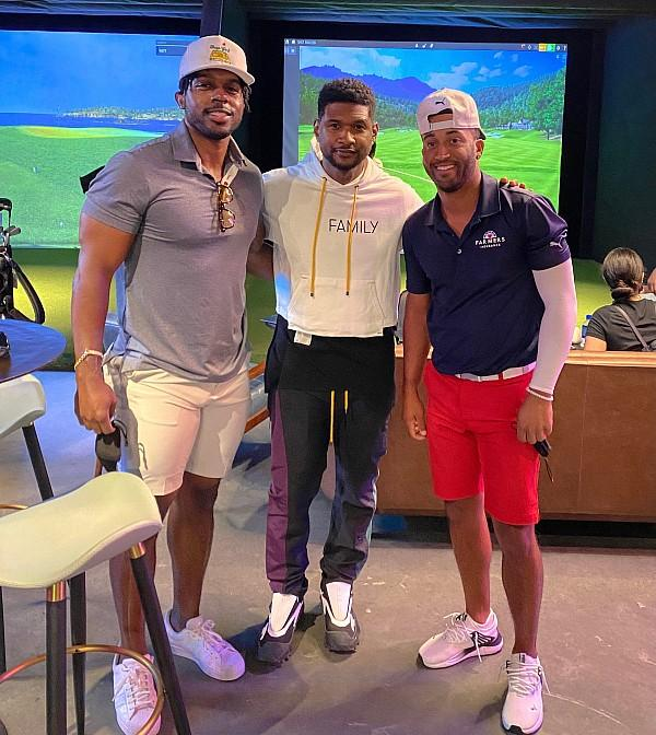 Usher Enjoys Five Iron Golf in Las Vegas on Golf Sunday