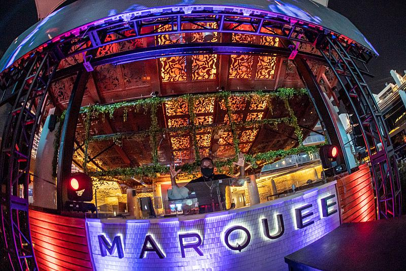 The Pool Marquee Night DJ Booth
