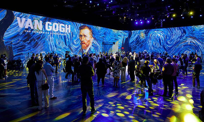 """Van Gogh: The Immersive Experience,"" a 360-degree Digital, VR Exhibition at AREA15"