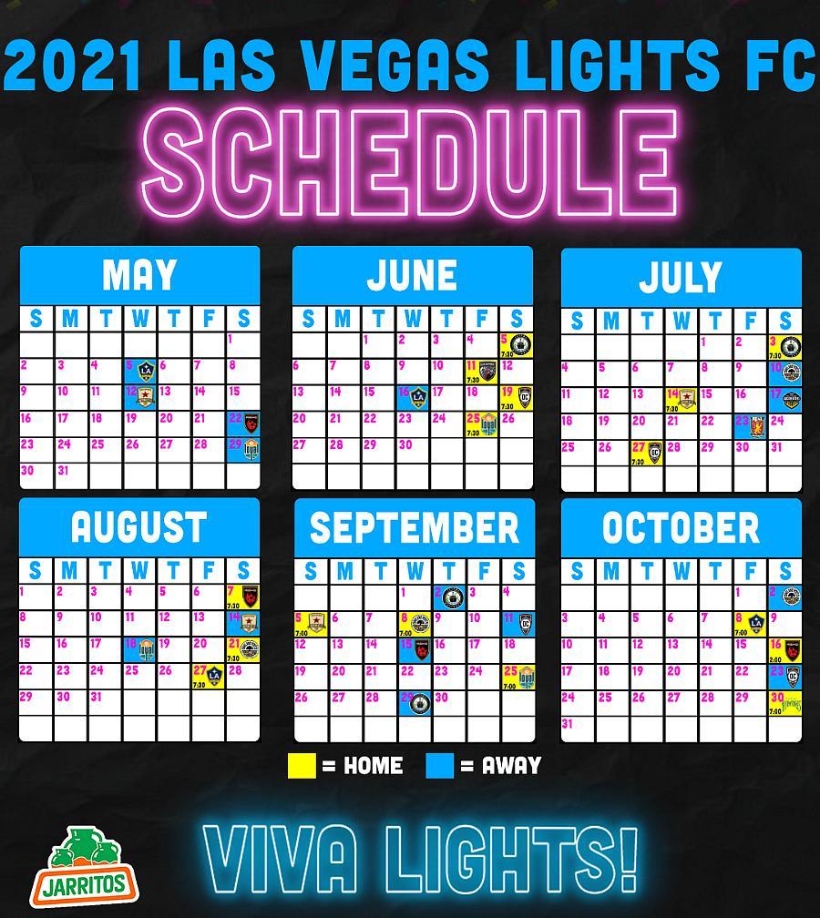 Lights FC Announce 2021 Season Schedule