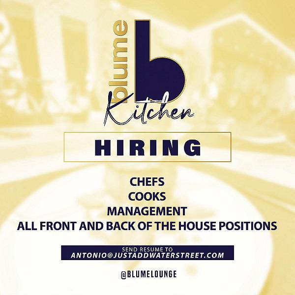 Blume Kitchen & Cocktails Hosting Job Fair June 1
