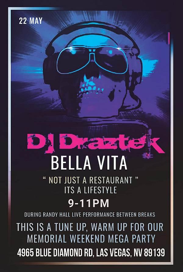 Randy Hall featuring resident DJ Draztek, 9-11pm.