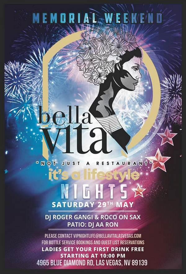 Bella Vita Celebrates with Live Entertainment and Bella Vita Nights this Memorial Weekend