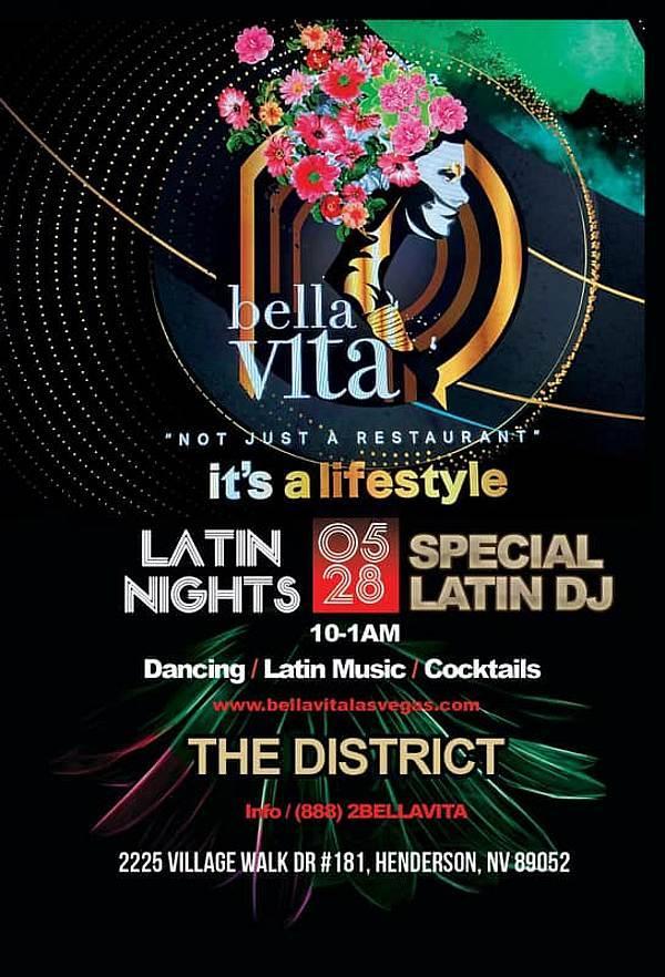 Latin themed nights at Bella Vita - The District