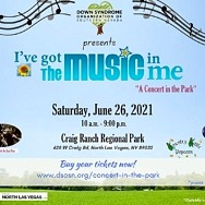 """Celebrate Summertime at Down Syndrome Organization of Southern Nevada's First-Ever """"I've Got the Music in Me"""" Concert in the Park on June 26"""