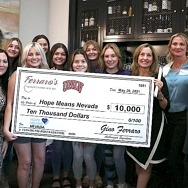 Ferraro's Hosts Fundraiser for Hope Means Nevada to End Teen Suicide in the State