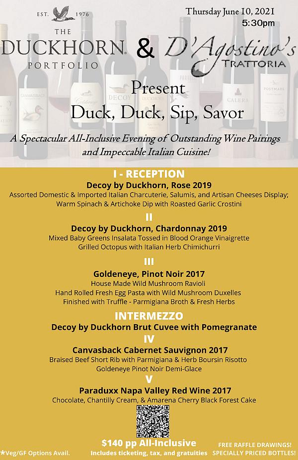 Duckhorn Wine Event at D'Agostino's Trattoria, June 10
