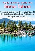 Award-Winning Air Carrier JSX Expands Flight Service between Oakland and Las Vegas to Reno-Tahoe Starting May 21, 2021