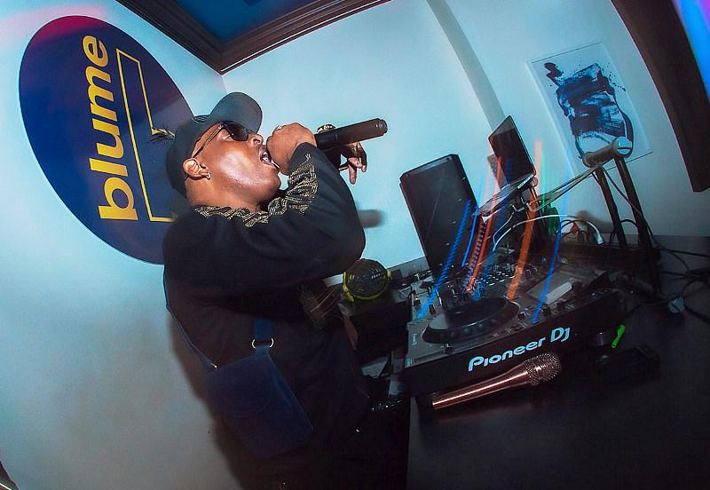 Coolio took over the deejay booth on Friday night for a pop-up performance. (Photo credit: Bernard Vanweydeveldt)