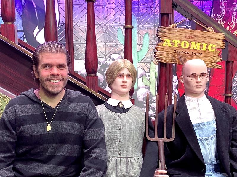 Perez Hilton Attends ATOMIC SALOON SHOW at the Grand Canal Shoppes inside The Venetian Resort