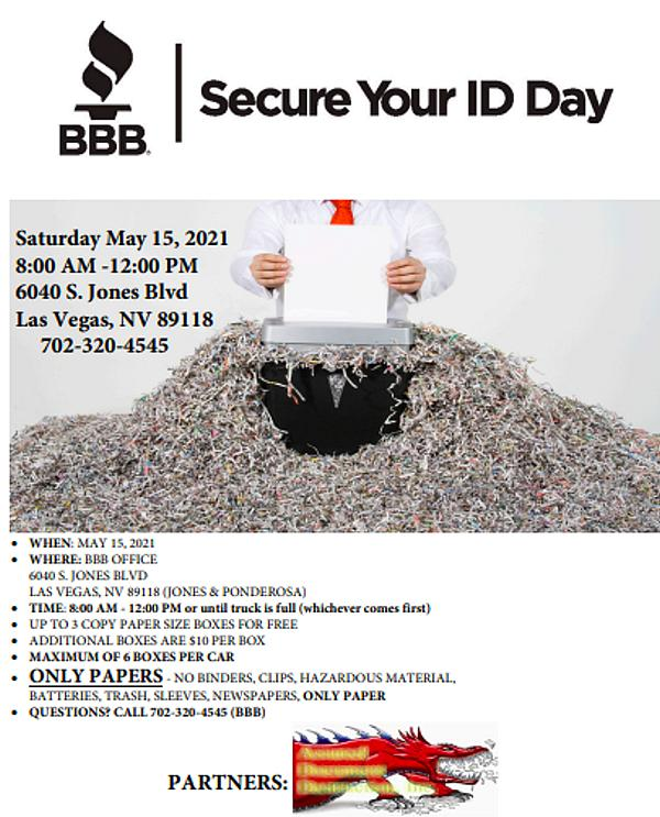 Shred Day with Better Business Bureau of Southern Nevada