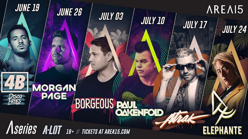 "AREA15 Announces ""A Series - A Live Music Series Beginning June 19"