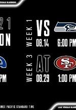 Raiders Announce 2021 Preseason Schedule