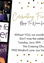 Refuge for Women Las Vegas Celebrates 5 Years in Vegas and Hosts Ceremonious Program and Ribbon Cutting with Henderson Mayor, Debra March, at The Crossing Church, June 29