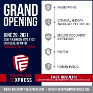 Fingerprinting Express Celebrates with Grand Opening of Fifth Location in Nevada, June 29