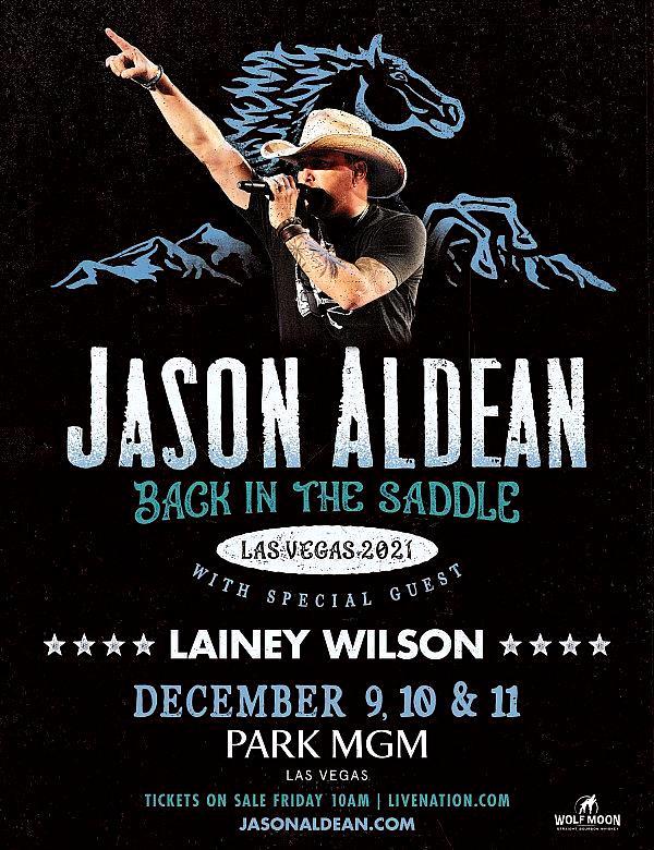 Jason Aldean Returns to Park MGM for Three-Night Engagement December 9-11, 2021