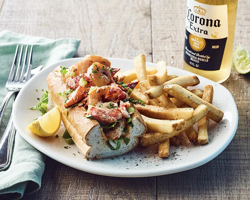 Lobster Roll on Plate