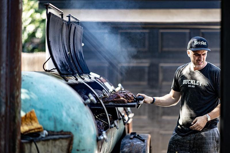 Burt Bakman, legendary pitmasterofSLAB BBQ