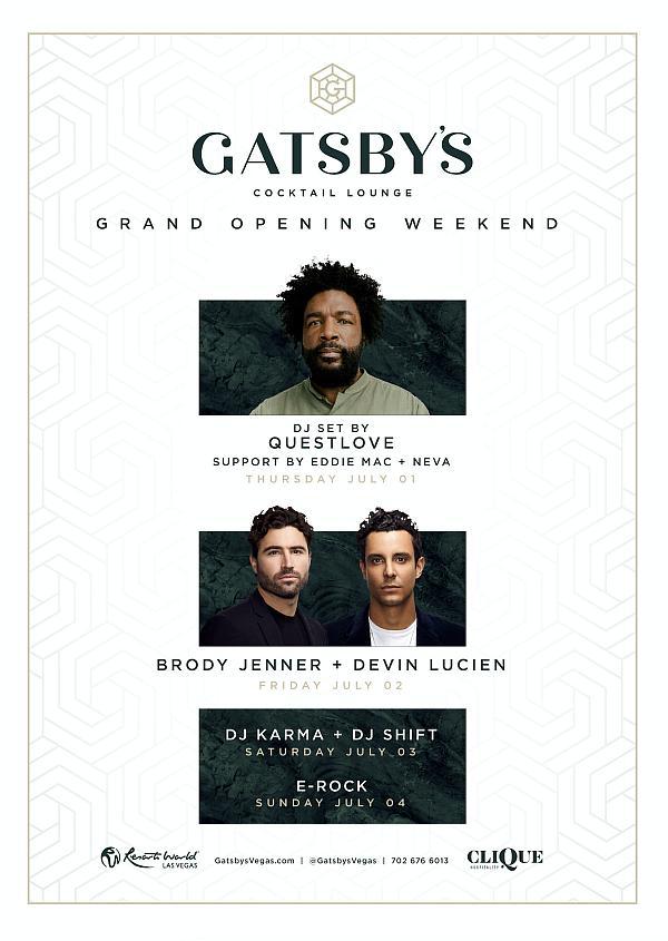 Gatsby's Cocktail Lounge Celebrates Grand Opening July 4 Weekend at Resorts World Las Vegas