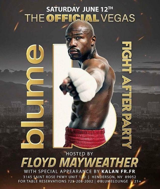 Blume Kitchen & Cocktails to Host Floyd Mayweather's Official Post-Exhibition After Party Saturday, June 12