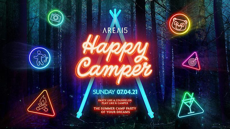 """AREA15 to Host """"Happy Camper"""" Adult Summer Camp Party with DJs, Immersive Experiences, Live Entertainment on July 4"""