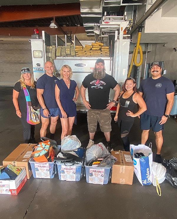 Las Vegas Fashion Council and the Southern Nevada Burn Foundation collected 2300 pairs of flip flops