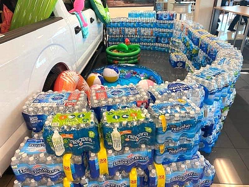 Local Ford Motor Companies collected 23,000+ water bottles