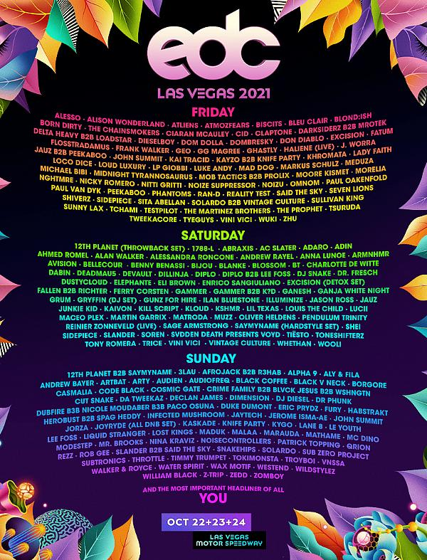 Insomniac Celebrates 25 Years of Electric Daisy Carnival with an All-Star Lineup for EDC Las Vegas, Oct 22-24