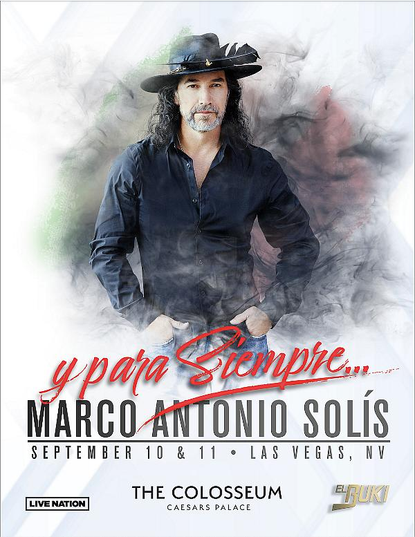 Marco Antonio Solís to Celebrate Mexican Independence Day Weekend with His Only Two U.S. Solo Shows This Year at the Colosseum at Caesars Palace September 10 & 11, 2021