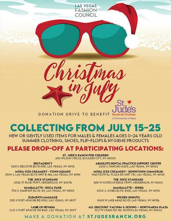 Las Vegas Fashion Council Christmas in July Drive with St. Jude's Ranch for Children