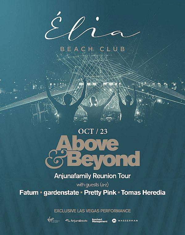Élia Beach Club Welcomes Above & Beyond Anjunafamily Reunion Tour Exclusively at Virgin Hotels Las Vegas on October 23
