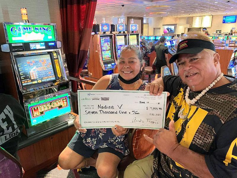 Nadine hit amore than$7,000 jackpotprizeplaying on a Game King slotgame on June 14