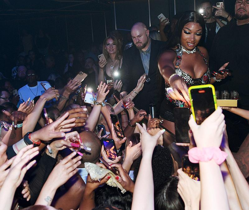 Megan Thee Stallion Throws a Hottie Party at Hakkasan Nightclub in Las Vegas with D'Usse