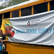Nevada State Bank Makes Donation to the Communities in Schools of Nevada Fill the Bus School Supplies Drive