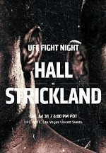 Middleweight Strikers (#8) Uriah Hall and (#11) Sean Strickland Collide at UFC Apex in Las Vegas July 31