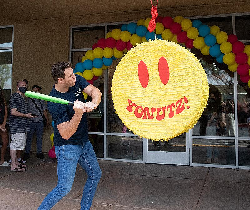 Once thepiñata broke open, one guest, Lucas Christensen, found the golden SMASH Cash coin, winning him free SMASH Donuts for a year.
