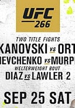 World Championship Doubleheader at UFC 266 In Las Vegas Sept. 25
