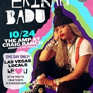"""The """"Queen of Neo-Soul"""", Erykah Badu to Hold One-Day Outdoor Concert in Las Vegas Oct. 24"""
