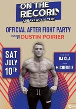 Mixed Martial Artist Dustin Poirier to Host Official After-Fight Party at On The Record Speakeasy and Club at Park MGM Saturday, July 10