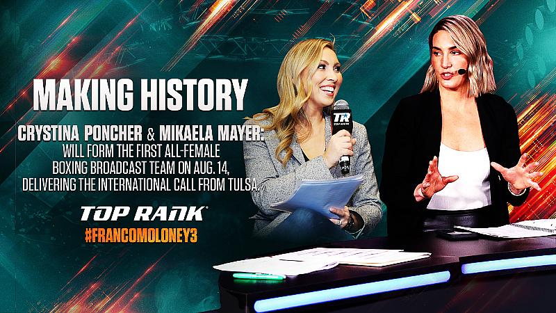 Breaking Barriers: Crystina Poncher and Mikaela Mayer to Form Boxing's First All-Female Broadcast Booth August 14