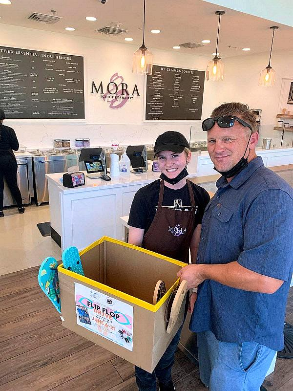 Mora Iced Creamery with Drop Off Box