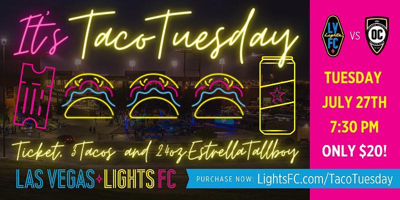 """Taco Tuesday Super Deal!"" Next Tuesday at Cashman Field"