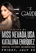 The Garden Las Vegas Hosts Celebration Honoring Miss USA Miss Nevada USA 2021 Pageant Winner Kataluna Enriquez