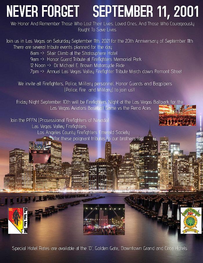 Las Vegas September 11th Firefighter Tribute