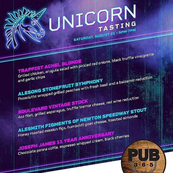 PUB 365 at Tuscany Suites & Casinoshosts a Unicorn Tasting