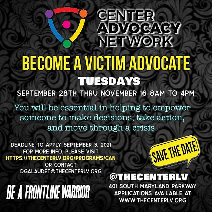 The Center Seeks People to Train as Victim Advocates