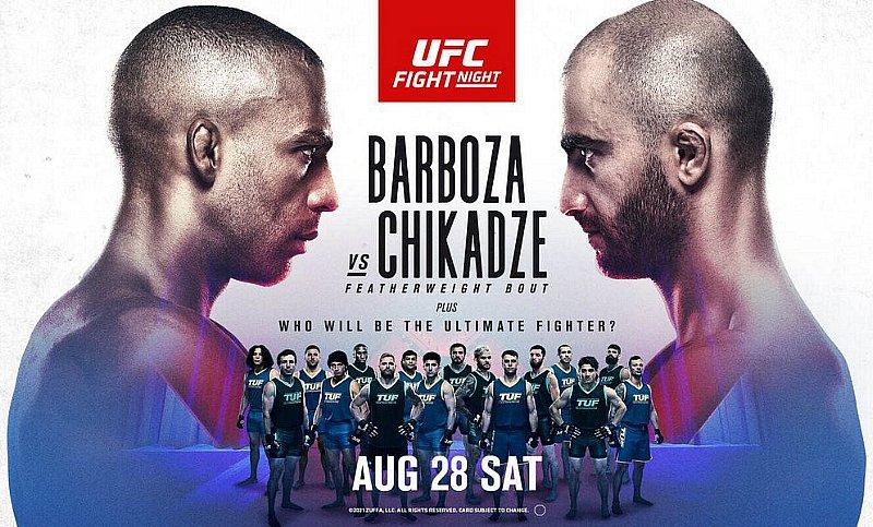 Thrilling Featherweight Bout Between (#9) Edson Barboza and (#10) Giga Chikadze Headlines at UFC Apex in Las Vegas