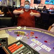 Hotel Guest Hits Mega Jackpot on Ultimate Texas Hold'em Poker for $293,155 at the All-New Harrah's Las Vegas