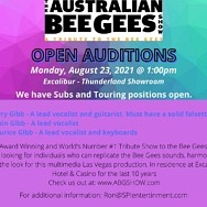 Open Auditions for The Australian Bee Gees Show